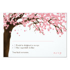 Cherry Blossom / Sakura Watercolor RSVP Card