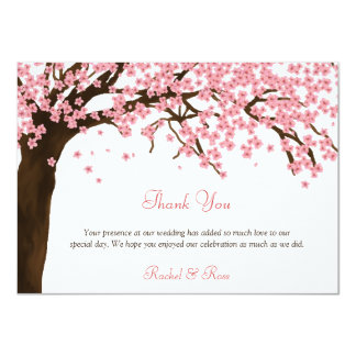 Cherry Blossom / Sakura Watercolor Thank You Card
