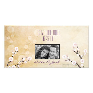 Cherry Blossom Save the Date Photo Card