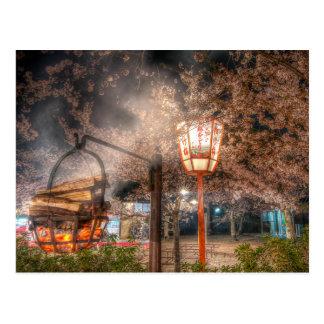 Cherry Blossom season in Maruyama Park, Kyoto Postcard