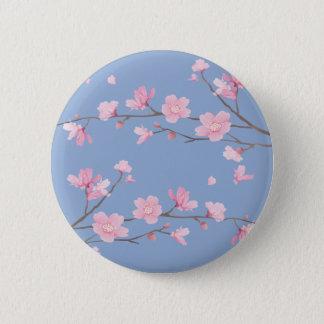Cherry Blossom - Serenity Blue 6 Cm Round Badge