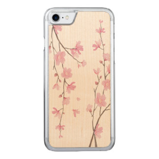 Cherry Blossom - Serenity Blue Carved iPhone 8/7 Case
