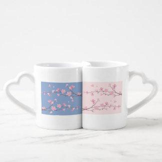 Cherry Blossom - Serenity Blue Coffee Mug Set