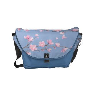Cherry Blossom - Serenity Blue Commuter Bag