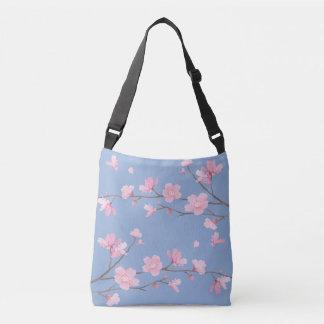 Cherry Blossom - Serenity Blue Crossbody Bag