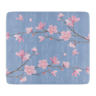 Cherry Blossom - Serenity Blue Cutting Board
