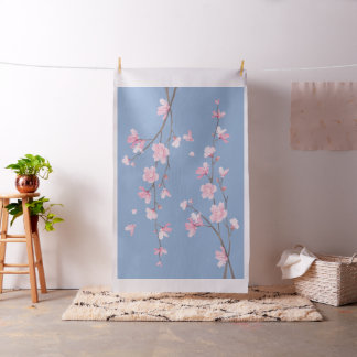 Cherry Blossom - Serenity Blue Fabric