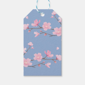 Cherry Blossom - Serenity Blue Gift Tags