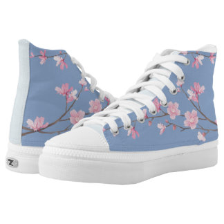 Cherry Blossom - Serenity Blue High Tops