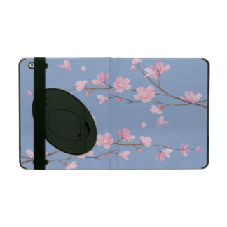 Cherry Blossom - Serenity Blue iPad Cover