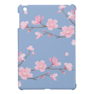 Cherry Blossom - Serenity Blue iPad Mini Case