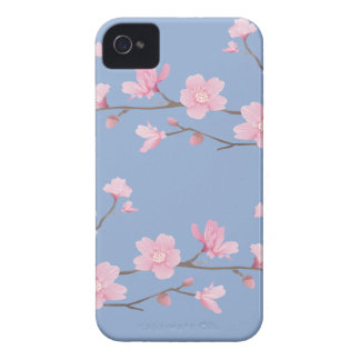 Cherry Blossom - Serenity Blue iPhone 4 Case-Mate Cases