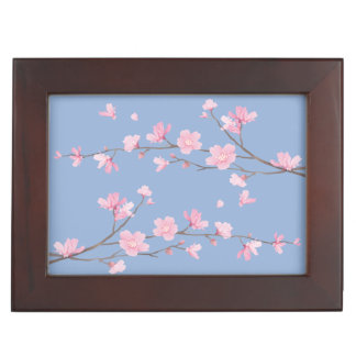 Cherry Blossom - Serenity Blue Keepsake Box