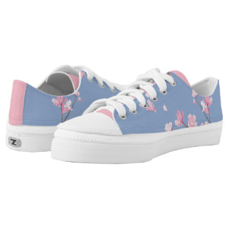 Cherry Blossom - Serenity Blue Low Tops