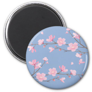 Cherry Blossom - Serenity Blue Magnet