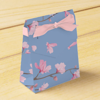 Cherry Blossom - Serenity Blue Party Favour Box