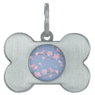 Cherry Blossom - Serenity Blue Pet Tag