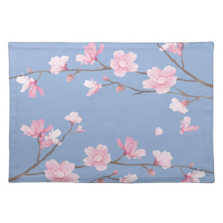 Cherry Blossom - Serenity Blue Placemat