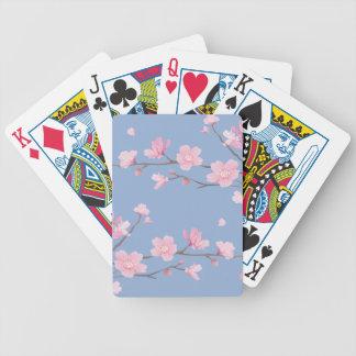 Cherry Blossom - Serenity Blue Poker Deck