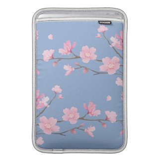 Cherry Blossom - Serenity Blue Sleeve For MacBook Air