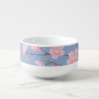 Cherry Blossom - Serenity Blue Soup Mug