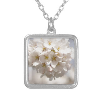 Cherry Blossom Silver Plated Necklace