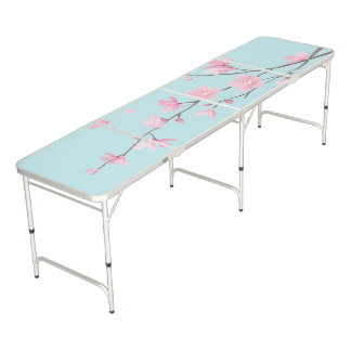 Cherry Blossom - Sky Blue Beer Pong Table