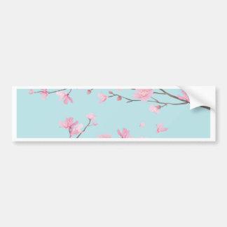 Cherry Blossom - Sky Blue Bumper Sticker