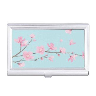 Cherry Blossom - Sky Blue Business Card Holder