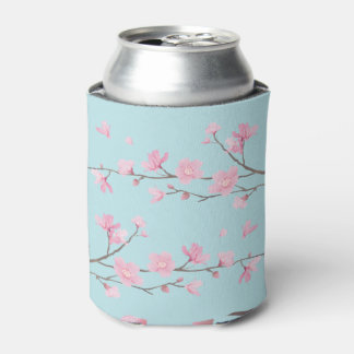 Cherry Blossom - Sky Blue Can Cooler