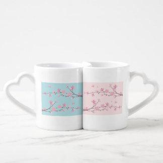 Cherry Blossom - Sky Blue Coffee Mug Set