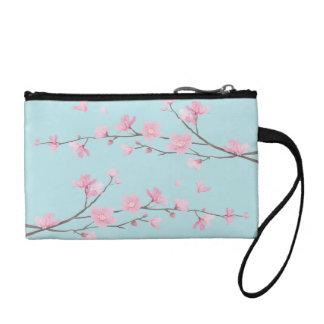 Cherry Blossom - Sky Blue Coin Purse