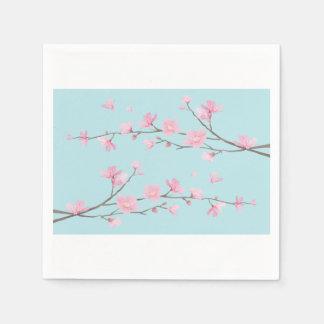 Cherry Blossom - Sky Blue Disposable Napkin