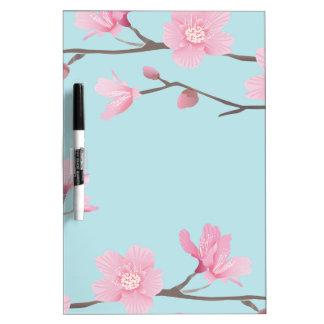 Cherry Blossom - Sky Blue Dry Erase Board