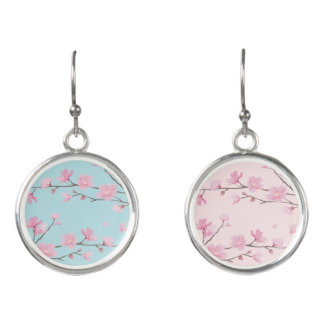 Cherry Blossom - Sky Blue Earrings