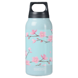 Cherry Blossom - Sky Blue Insulated Water Bottle