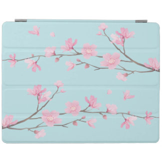 Cherry Blossom - Sky Blue iPad Cover