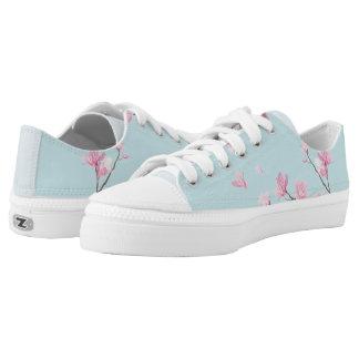 Cherry Blossom - Sky Blue Low Tops