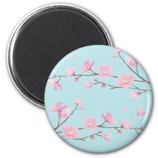 Cherry Blossom - Sky Blue Magnet