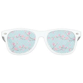 Cherry Blossom - Sky Blue Retro Sunglasses