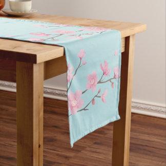 Cherry Blossom - Sky Blue Short Table Runner