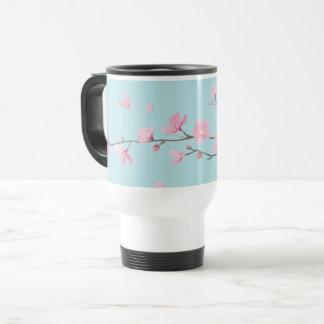 Cherry Blossom - Sky Blue Travel Mug