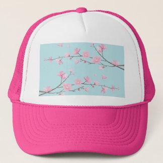 Cherry Blossom - Sky Blue Trucker Hat