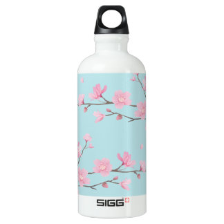 Cherry Blossom - Sky Blue Water Bottle