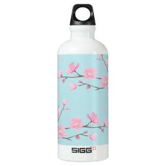 Cherry Blossom - Sky Blue Water Bottle