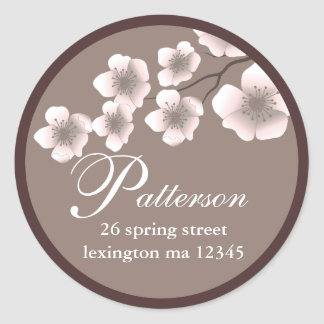 Cherry Blossom Springtime Address Label