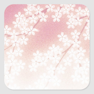 Cherry Blossom Square Sticker