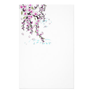 cherry blossom stationary paper