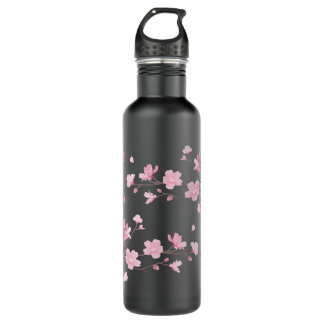 Cherry Blossom - Transparent Background 710 Ml Water Bottle
