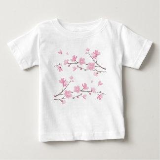 Cherry Blossom - Transparent-Background Baby T-Shirt